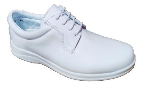 Zapato Piel De Borrego Para Pie Delicado Diabetico Blanco Enfermero Medico Cómodos Confort Modelo 800