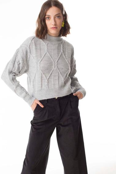 Sweater Prager Gris Las Pepas