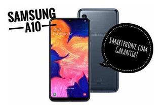 Smartphone Samsung Galaxy A10 - Pto - Frete E Parc S/ Juros