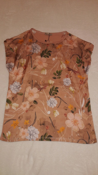 Blusa Para Dama Manga Corta Estampada Zara