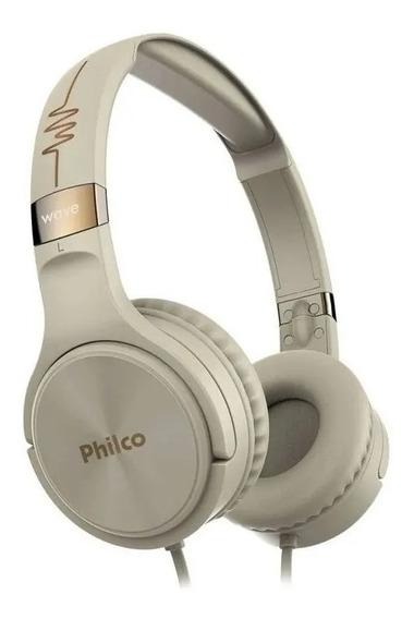 Headphone Pfo02g Bege Philco Bivolt