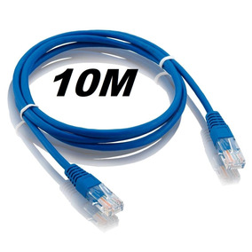 Patch Cord Azul Cat5 10m - Kit Com 25 Unidades