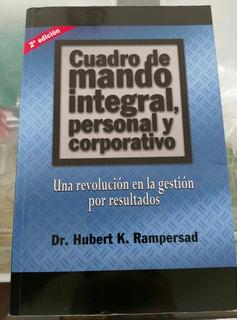 Libro Físico Cuadro De Mando Integral Hubert Rampersad Tps