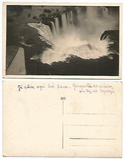 Paraná Anos 30 Cartão Postal Garganta Do Diabo Foz Do Iguaçu