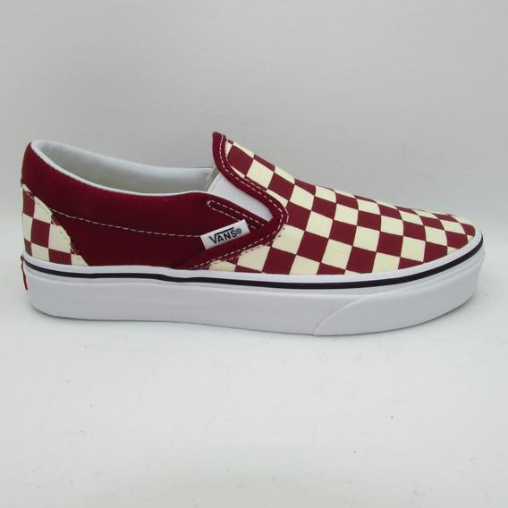 Tenis Vans Classic Slip On Vn0a38f7vlw Checkerboard Rumba Re