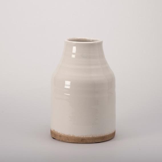 Jarron Blanca De Ceramica Ch