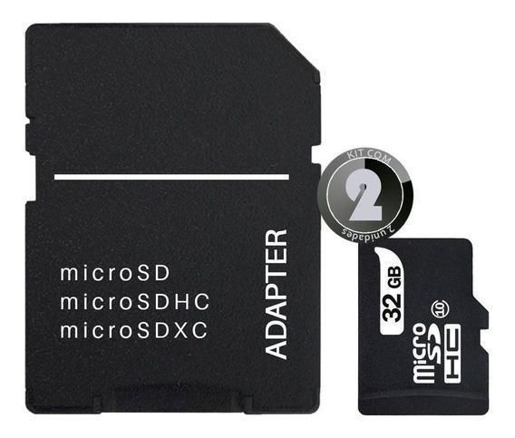 2x Cartão Sd 32gb Classe 10 P/ Câmera Fotográfica Filmadora