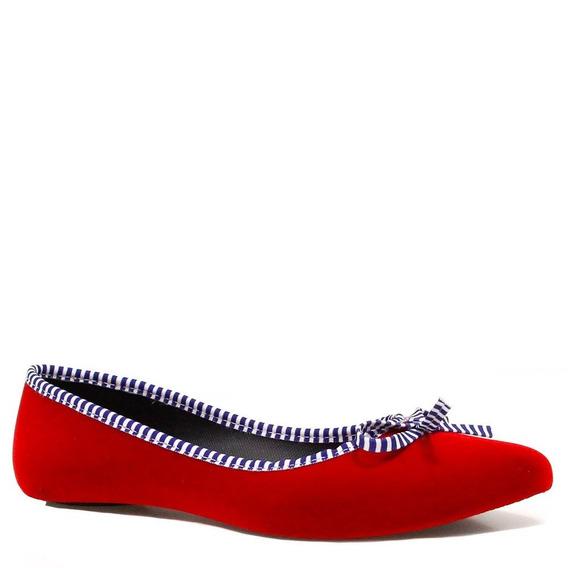 Sapatilha Zariff Shoes Veludo Laço Listrado 8117