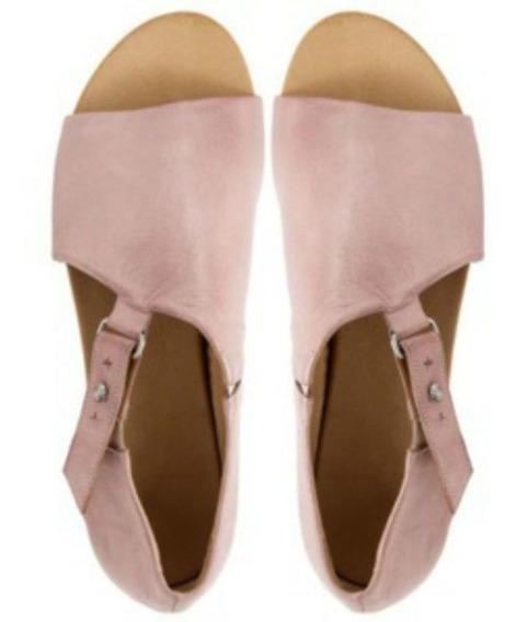 Las Mujeres De Cuero Suave Sandalias Planas Zapatos De Playa
