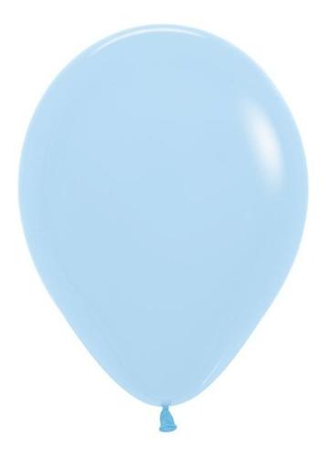 Globos R-9 Pastel Mate Azul - Sempertex X 50