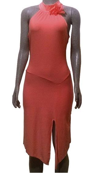 Vestido De Playa, Sin Mangas, Color Salmon + Regalo