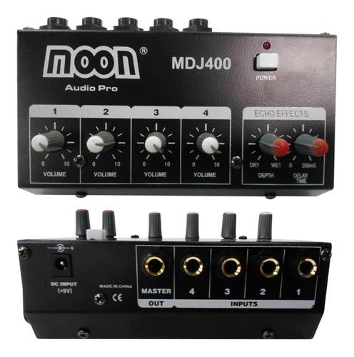 Mixer Consola Moon Mdj400 4 Canales Con Camara De Eco Esdj