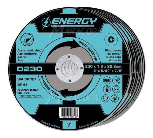 Imagen 1 de 3 de Discos De Corte 9'' Acero Energy 1.8mm Caja X 10 Unidades