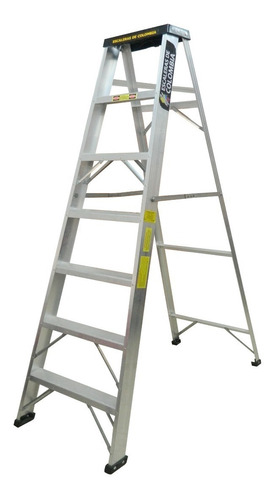 Escalera Aluminio Tijera 7 Pasos / 2.10 Metros 102 Kg