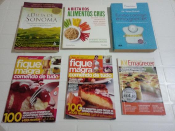 Lote 6 Livros Emagrecer Dieta Sonoma, Dieta Dukan E Outros