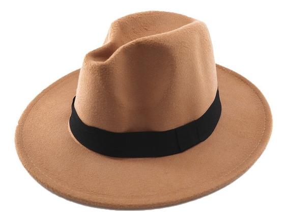 Sombrero De Paño Estilo Panama Unisex.. Art: 290003