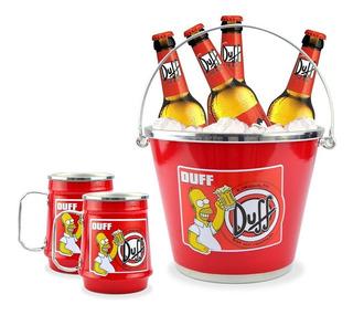 Kit Balde De Gelo Com 4 Caneca Personalizada Cerveja Time