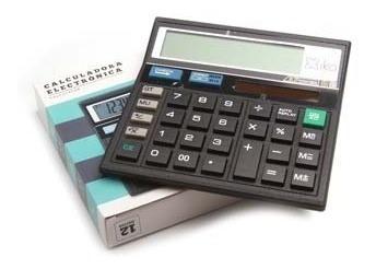 Calculadora Escolar 12 Dígitos Funciones Números Escolar