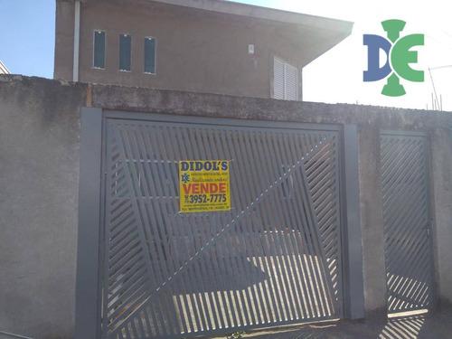 Sobrado Com 3 Dormitórios À Venda, 298 M² Por R$ 390.000,00 - Jardim Emília - Jacareí/sp - So0102