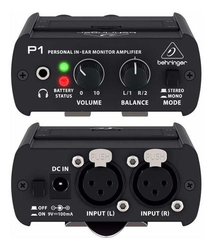 Imagen 1 de 4 de Behringer P1 Sistema De Monitoreo Personal X2 Xlr X1 Salida