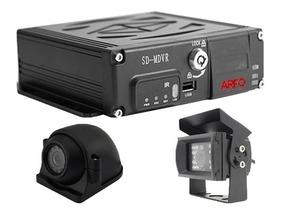 Kit Mdvr Automotivo Arfo 720p 4g Wifi Gps + 2 Câm + Sd 16gb