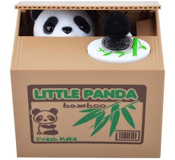 Electrónica Alcancía Roba Monedas Con Panda Sonido
