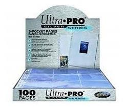 Ultra Pro 100 Hojas Para Carpeta - 18 Cartas En Cada Hoja