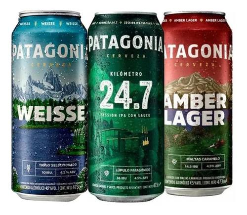 Imagen 1 de 5 de Cerveza Patagonia Mix Pack X 6 Latas 473ml - 2 C/u