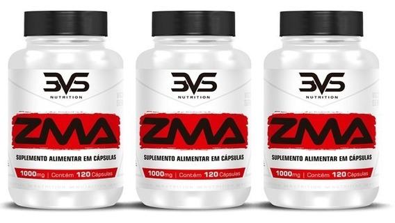 Combo 3x Zma 1000mg Ultra Concentrado 120 Caps 3vs