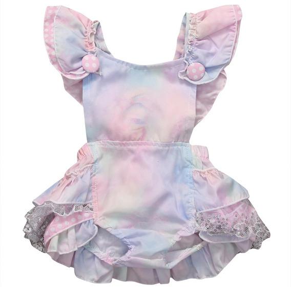 Vestido Newborn Con Botones, Encajes Y Volados (niña)