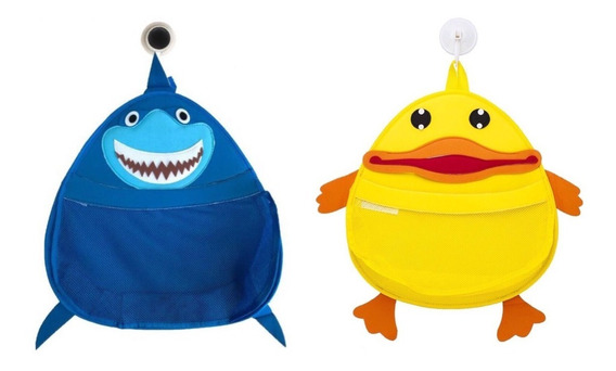 2 Organizador Brinquedo Banho Infantil Bebê Sacola Higiene
