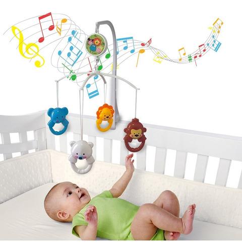 Móbile Giratório Musical De Bebê - Happy Zoo