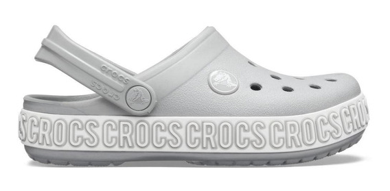 Crocs Crocband Logo Mania Kids Light Grey/white