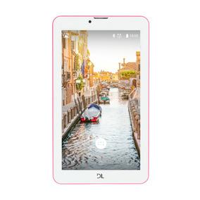Tablet Dl Wifi 3g Dual Chip 8gb Função Smartphone Rosa