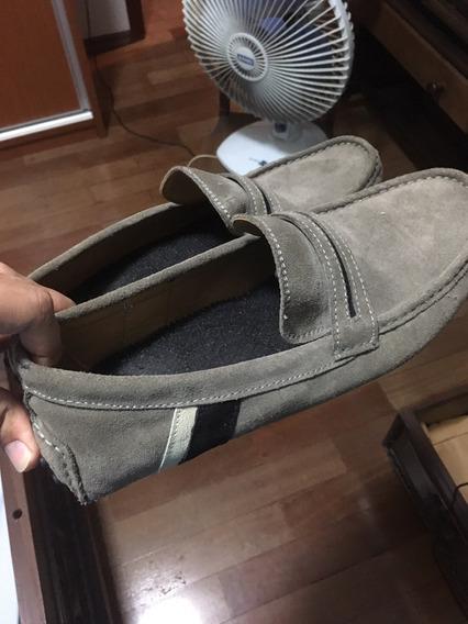 Sapato Zara Mocassim Cinza