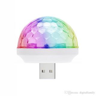 Mini Bola Magica Luz Led Rgb Usb Celular Micro Usb Fiesta
