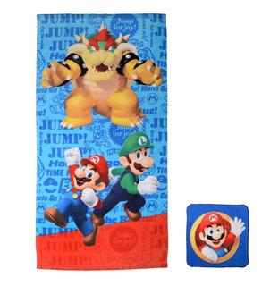 Set Toalla Y Tapete Para Baño Super Mario Bross Nintendo