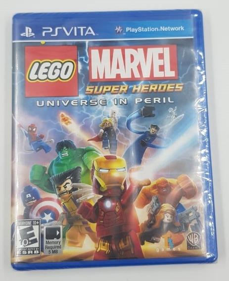Jogo Mídia Física Lego Marvel Super Heroes Ps Vita
