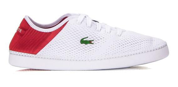 Tênis Lacoste L.ydro Lace 119 1 Cma Branco E Vermelho