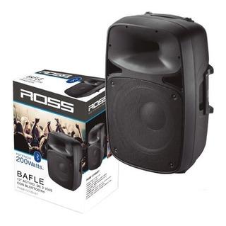 Bafle Activo Portatil 12 200 Watts 2 Vías Bluetooth Ross