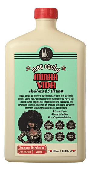 Shampoo Hidratante Meu Cacho Minha Vida Lola Cosmetics 500ml