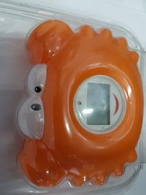 Termômetro Para Banho Digital Incoterm Caranguejo Laranja