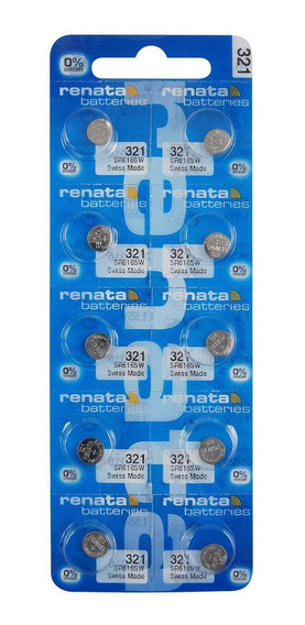 10 Baterias Renata 321 O Sr616sw 1.55 V. Oxido Plata Suiza