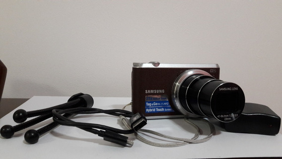 Câmera Samsung Wb350f 16.3mp Lcd Touch Wifi Full Hd Zoom 21x