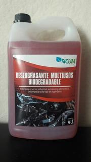 Desengrasante Multiusos Biodegradable Sicum De 4 Lts.
