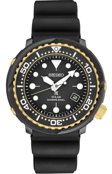 Relógio Seiko Sne498 Solar Dive Tuna Prospex 47mm Black