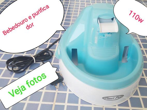 Bebedor Purificador Eletrico Caes Gatos Pet Azul 110w Fonte