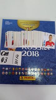 Kit 2 Álbum Copa 2018 + 307 Figurinhas - Cod 03