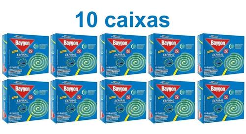 Kit 10 Caixas Repelente Baygon Espiral Contra Mosquitos