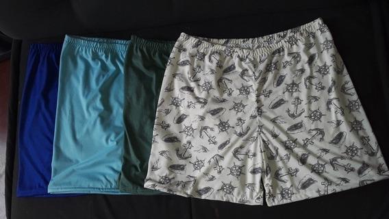 Kit 4 Short Pijama Masculino Adulto
